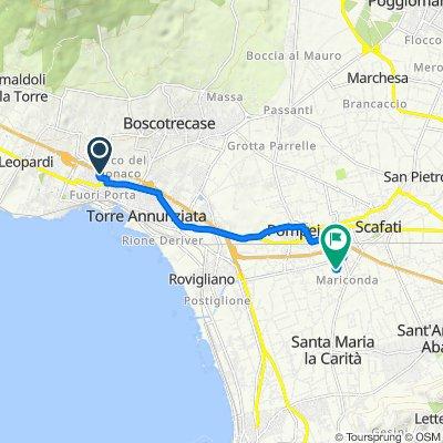Da Via Vesuvio 247, Trecase a Vicinale Fondo Monaco 39, Scafati