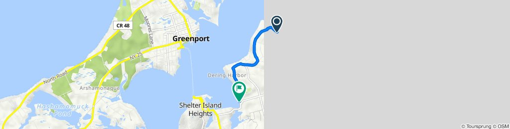 82 Gardiners Bay Dr, Shelter Island Heights to 42–68 Winthrop Rd, Shelter Island Heights