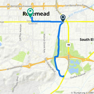 9201 Mabel Ave, Rosemead to 8128 Whitmore St, Rosemead