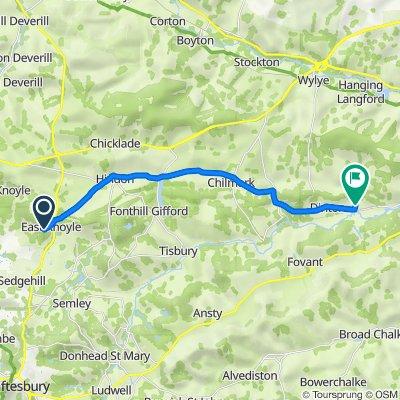 6–10 Church Rails, East Knoyle, Salisbury to Baverstock House, Baverstock, Salisbury
