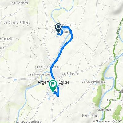 De 100 Rue de l'Atelier, Argenton-l'Église à 231 Rue de la Couture, Argenton-l'Église