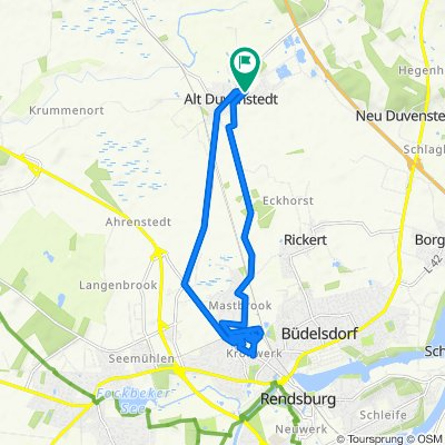 Bachweg 3A, Alt Duvenstedt nach Bachweg 3A, Alt Duvenstedt