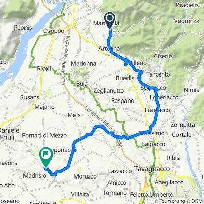 Via Sornico Superiore 17, Sornico Superiore nach Via dei Faggi 1, Fagagna
