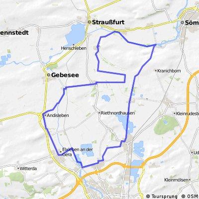 Runde von/nach Walschleben> Haßleben>Werningshausen>Sschallenburg>Alperstedt>Stotternheim Walschleben