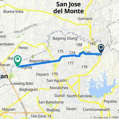 Barangay 182, Caloocan to Unnamed Road, Valenzuela