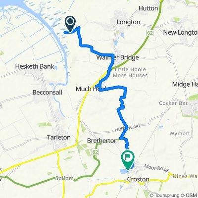 Marsh Lane, Longton, Preston to Twin Lakes Fishery And Clubhouse, Brickcroft Lane, Leyland