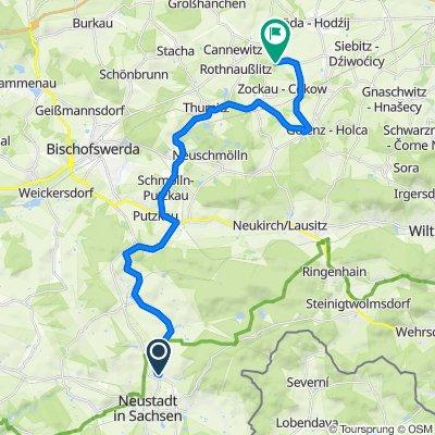 Folgenweg 8, Neustadt in Sachsen nach An den Wiesen, Göda