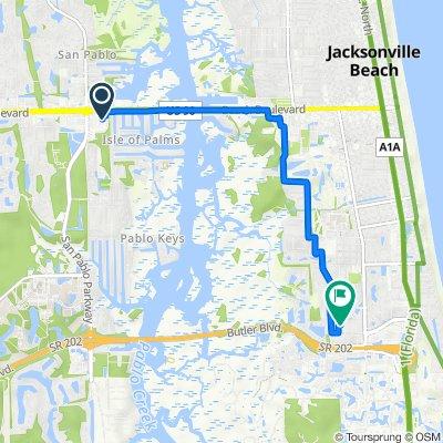 Route to 3869 Grande Blvd, Jacksonville Beach