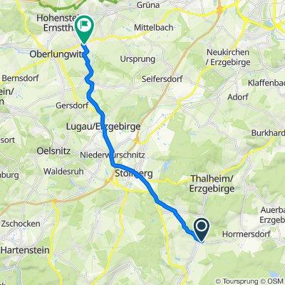 Thumer Straße 8, Zwönitz nach Abteistraße 8, Oberlungwitz