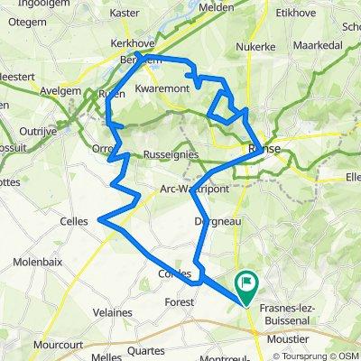 De Chemin d'Ellignies, Frasnes-Lez-Anvaing à Chemin d'Ellignies, Frasnes-Lez-Anvaing