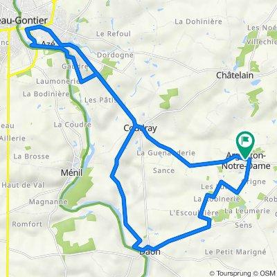 De Rue de l'Argancière, Argenton-Notre-Dame à 12 Rue de l'Argancière, Argenton-Notre-Dame