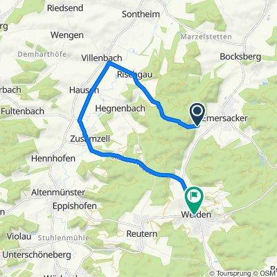 Route nach Uzstraße 3, Welden