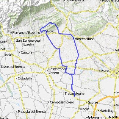 Trebaseleghe-Montebelluna-Mercato Vecchio-Forcella Mostacin-Pagnano-S.Anna-Asolo-Altivole-Vedelago-Trebaseleghe 27/03/2011