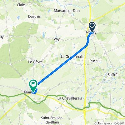 Itinéraire à partir de 7 Boulevard Hillereau, Nozay