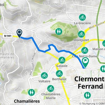 De 85 Avenue du Puy-de-Dôme, Clermont-Ferrand à 31 Rue Fontgiève, Clermont-Ferrand