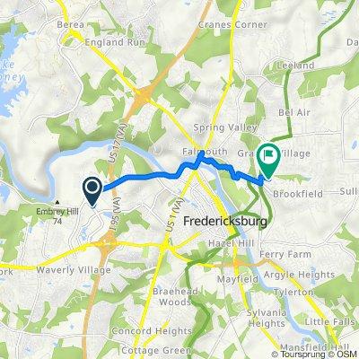 1861 Carl D Silver Pkwy, Fredericksburg to 16 Ridge Pointe Ln, Fredericksburg