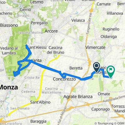 Da Via Adamello Via S.M. Molgora (Vimercate) a Via Enrico Fermi 10, Burago di Molgora