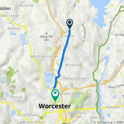 1200 W Boylston St, Worcester to 195 Grove St, Worcester