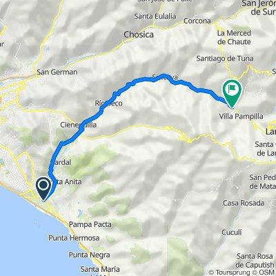 De Avenida Antigua Panamericana Sur 2066, Lima a Unnamed Road, Antioquía
