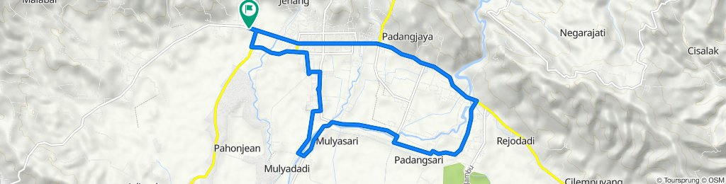 Jalan KH. Sufyan Tsauri 33, Kecamatan Majenang to Jalan KH. Sufyan Tsauri 33, Kecamatan Majenang