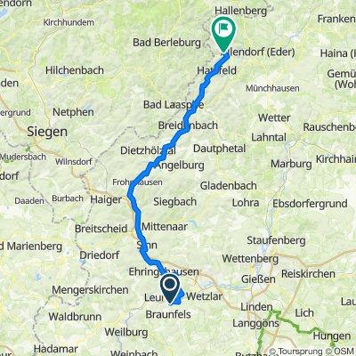 Gutleutstraße 15, Solms nach Ferienplatz Edertal 1, Battenberg (Eder)