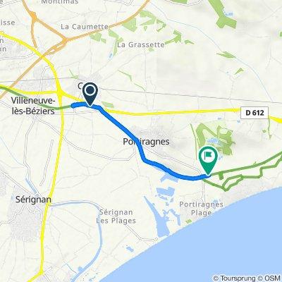 Itinéraire à partir de D612, Cers