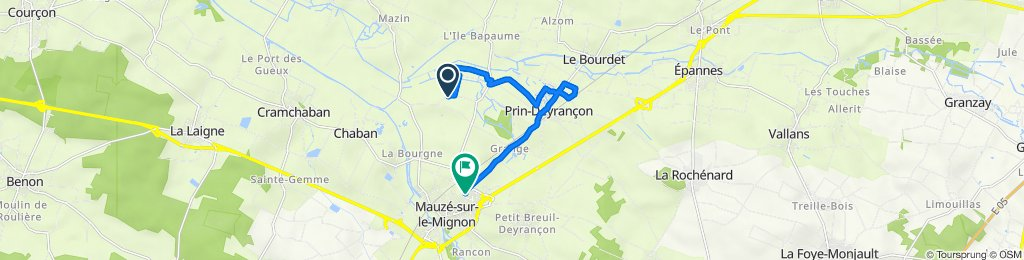 Itinéraire vers 38 Route de Prin, Mauzé-sur-le-Mignon