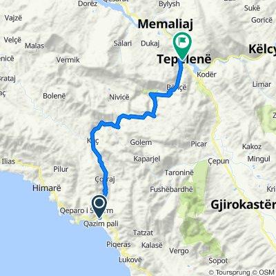 Rruga Plazhi, Borsh to Rruga Shullaz, Tepelenë