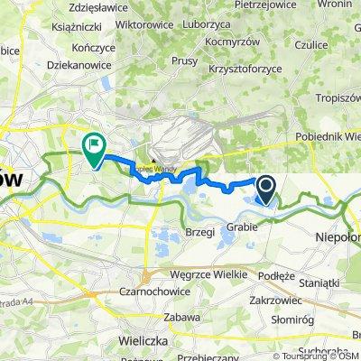 Generała Michała Karaszewicza-Tokarzewskiego 41, Kraków do Biskupa Piotra Tomickiego 22, Kraków