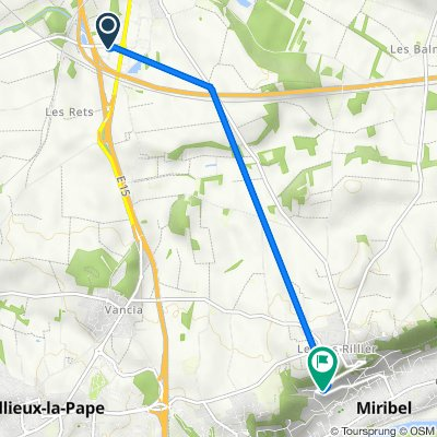 От D71a, Мирибель до 1014 Montée Neuve, Мирибель