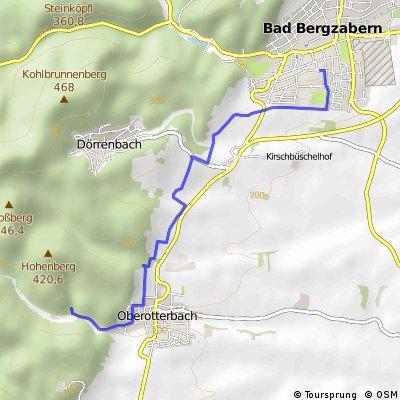 Wanderstrecke : BZA - Oberotterbach