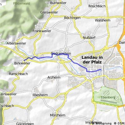 Wanderstrecke LD - Birkweiler Sternel