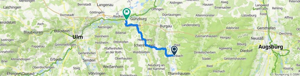Rathausgäßchen 1–2, Burtenbach nach Güssenstraße 24, Leipheim