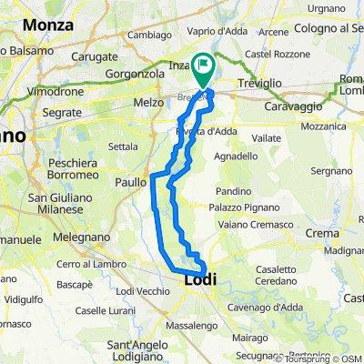 Rivolta - Lodi e ritorno 61 KM
