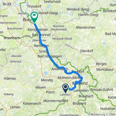 Römerstraße 60, Kobern-Gondorf nach Jakobstraße 22, Bonn
