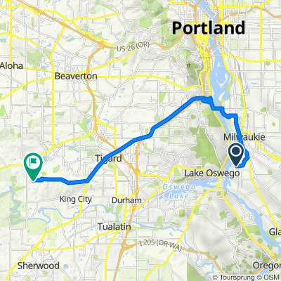 13505 SE River Rd, Portland to 14575 SW 163rd Ave, Portland