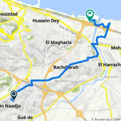 De Rue des Fusillés, Djasr Kasentina à Pénétrante de Oued Ouchayah, Hussein Dey