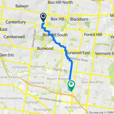 100 Windsor Crescent, Surrey Hills to 17-21 Centreway, Mount Waverley