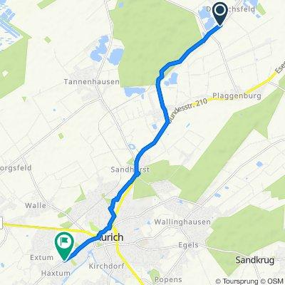 Esenser Postweg 140, Aurich nach Oldersumer Straße 94, Aurich