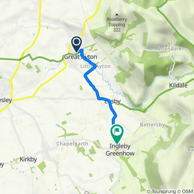 9 Rosehill, Middlesbrough to Ingleby Ave, Ingleby Greenhow, Great Ayton, Middlesbrough