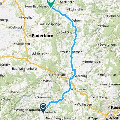 1984 - Salzburg - Schwanewede - 11. Tag: Korbach - Horn-Bad Meinberg