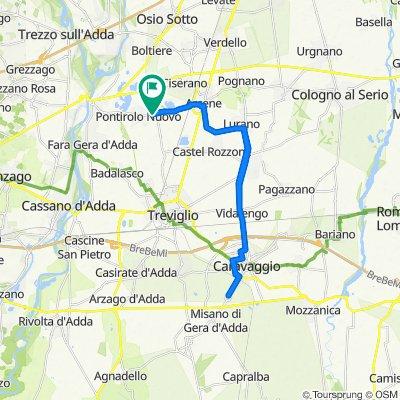Da Via Giuseppe Mazzini 69, Pontirolo Nuovo a Via Giuseppe Mazzini 74, Pontirolo Nuovo