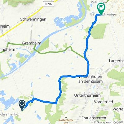 Route nach Bäldleschwaige 1, Tapfheim