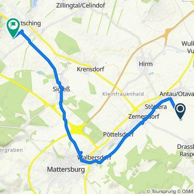 Route von Polankaweg 17–51, Antau