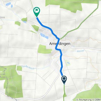 Route nach Aufhausener Straße, Amerdingen