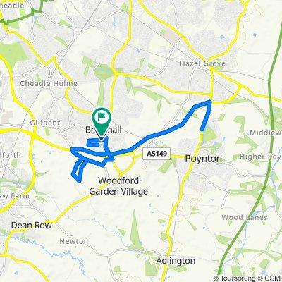 5 Ogden Road, Stockport to 8 Thorn Road, Stockport
