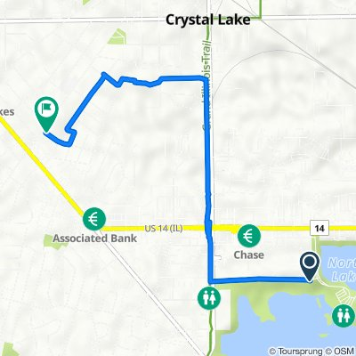 Route to 300 Union St, Crystal Lake