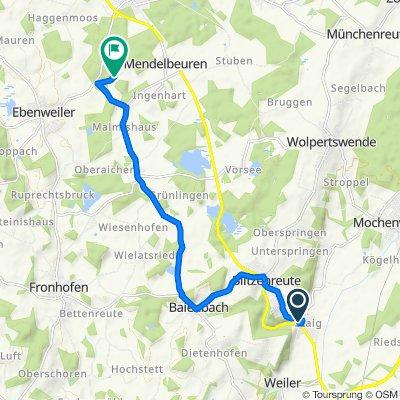 Mühlbachweg 4, Fronreute nach Oberweiler 2, Ebenweiler