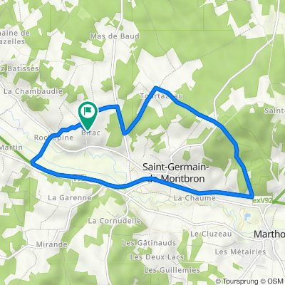 De 375 Rue des Hirondelles, Saint-Germain-de-Montbron à 432 Rue des Hirondelles, Saint-Germain-de-Montbron