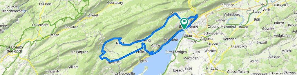 P-Biel/Twann/Lignieres/Nods/Orvin/Evilard (51 km)